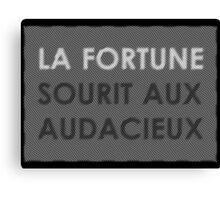 fortune favors the brave  Canvas Print