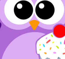 Cute! OWL be good for a cupcake Sticker