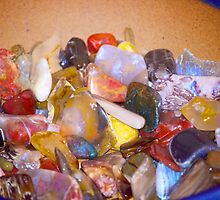 Bowl of polished stones by GoddessChrissy