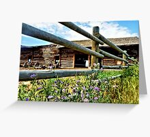 Montana Barn Greeting Card