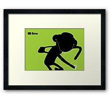 Adventure Time Bmo's Campaign (Apple iPod Parody). Party Pat Version. Framed Print