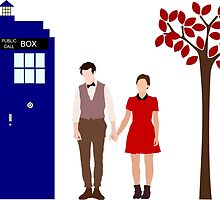 Clara and the 11th Doctor by FiaG