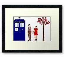 Clara and the 11th Doctor Framed Print