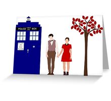 Clara and the 11th Doctor Greeting Card