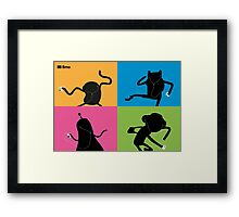 Adventure Time Bmo's Campaign (Apple iPod Parody). Framed Print