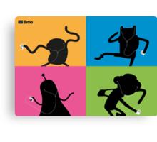 Adventure Time Bmo's Campaign (Apple iPod Parody). Canvas Print