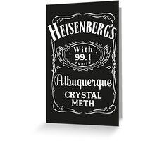 Heisenberg Pure Meth Greeting Card