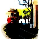Make Way for the Tram  by PictureNZ