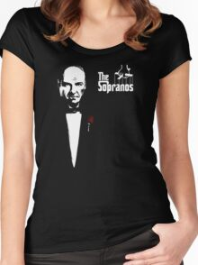 The Sopranos (The Godfather mashup) Women's Fitted Scoop T-Shirt