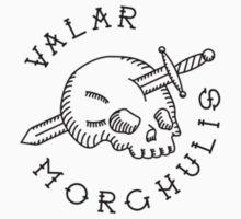 Valar Morghulis Black Chest Emblem Kids Clothes