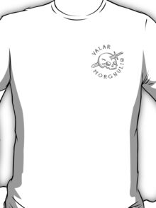Valar Morghulis Black Chest Emblem T-Shirt