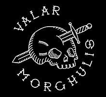 Valar Morghulis White Chest Emblem by Aguvagu
