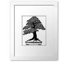 Paper art - Under the Bonsai Tree Framed Print