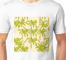 Watercolor pattern with palm tree Unisex T-Shirt