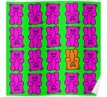 Gummy Bears Pink and Orange Poster