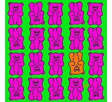 Gummy Bears Pink and Orange Photographic Print