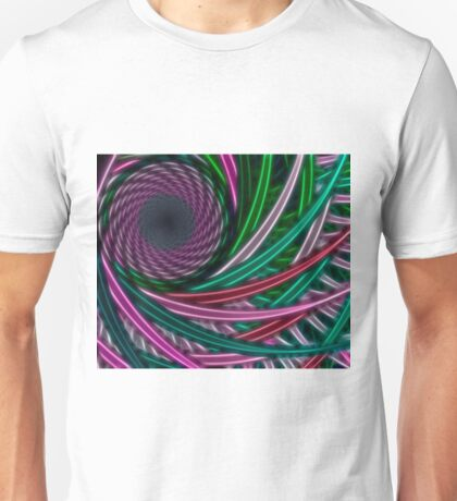 Fractal illustration chaos lines, circles Unisex T-Shirt