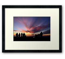 Double Peak Park Silhouette Framed Print