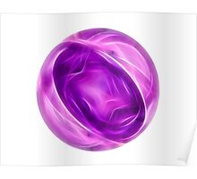 Abstract fractal circle with soft lines Poster