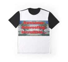 Stained Glass Mosaic Landscape Mirror Graphic T-Shirt