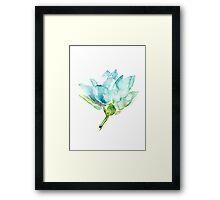 Lotus Watercolor Zen Painting Framed Print