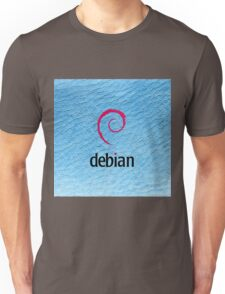 Debian blue color leather texture Unisex T-Shirt