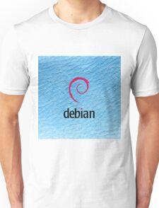 Debian blue color leather texture Unisex T-Shirt