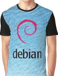 Debian blue color leather texture Graphic T-Shirt