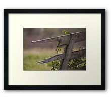 Broken Fence 2 Framed Print