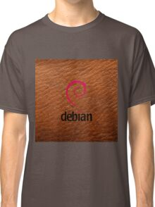 Debian brown color leather texture Classic T-Shirt