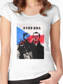 Nicholas Winton, Hero Of The Holocaust Women's Fitted Scoop T-Shirt