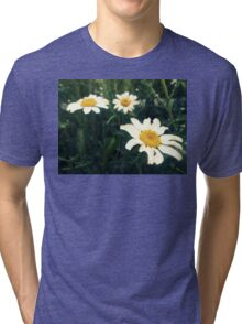 wild daisies on a green field Tri-blend T-Shirt