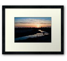 Canal Sunset Framed Print