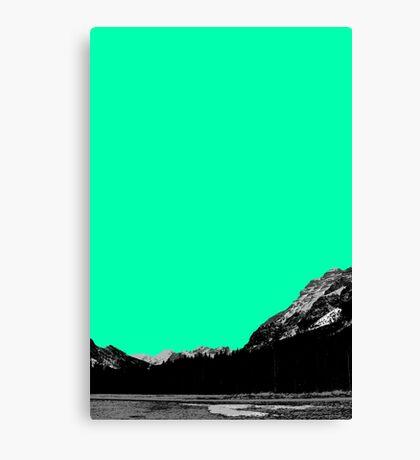 Dark Mountain   Green Canvas Print