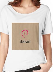 Debian white oak color wood texture Women's Relaxed Fit T-Shirt