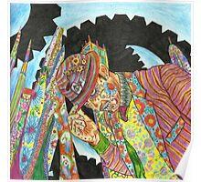 Sugar Skull Dandy Cogs Poster