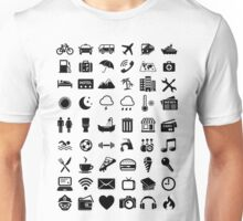 Travel Icons Language Unisex T-Shirt