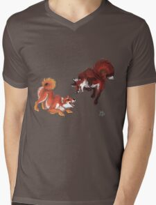 Lookalikes: Shiba & Fox Mens V-Neck T-Shirt