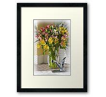 Kitchen Bouquet Framed Print