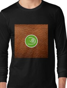 Opensuse with leather texture Long Sleeve T-Shirt