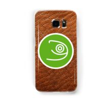 Opensuse with leather texture Samsung Galaxy Case/Skin