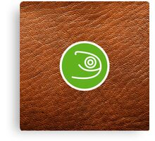 Opensuse with leather texture Canvas Print