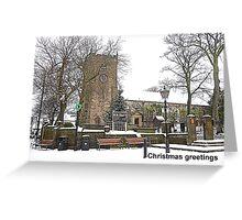St Chads Church. Poulton le Fylde.  Greeting Card