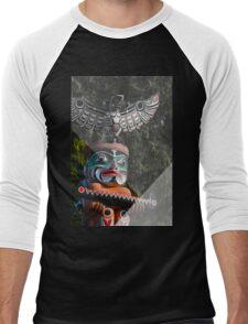 Graphic Totem Pole Men's Baseball ¾ T-Shirt