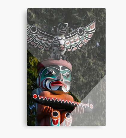 Graphic Totem Pole Canvas Print
