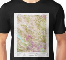 USGS TOPO Map California CA Briones Valley 288611 1959 24000 geo Unisex T-Shirt