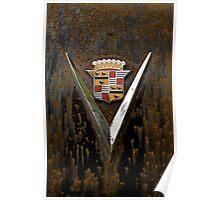 Abandoned 1948 Cadillac Emblem Detail Poster