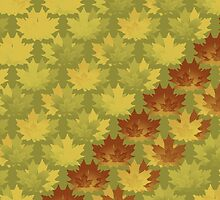 Diagonal Leaf Pattern by 2HivelysArt