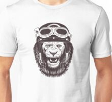 Vintage Motorcycle Lion Unisex T-Shirt