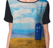 TARDIS: Seaside Stop Chiffon Top